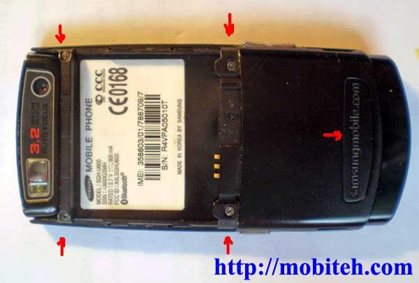 Как разобрать Samsung u600